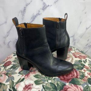 GAP Zip Heeled Boot Black